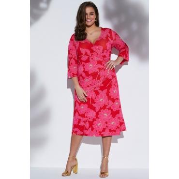 Ulla Popken Anna Scholz by  Größe 58/60, knallrot-pink, Mode in großen Größen