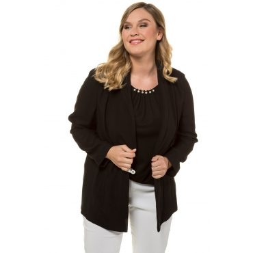 d94426e3c3bf99 Ulla Popken Blazer-Jacke Damen 60, schwarz, Mode in großen Größen