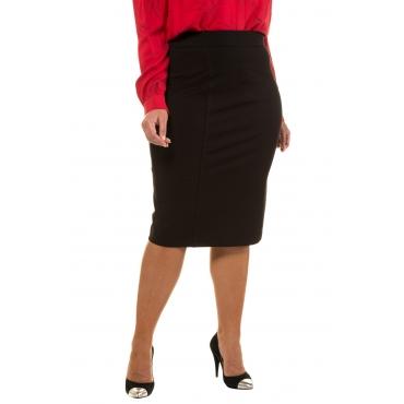 Ulla Popken Businessrock Damen, schwarz, Viskose, Mode in großen Größen