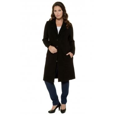 Ulla Popken  Coat Damen 58/60, schwarz, Mode in großen Größen