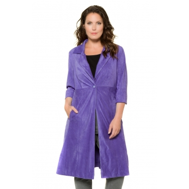 Ulla Popken  Coat Damen 52, lila, Mode in großen Größen
