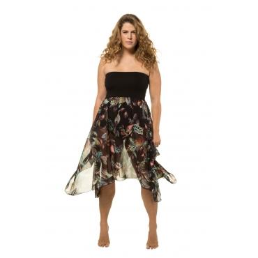 Ulla Popken  2-in-1-Kleid Damen Größe 58/60, schwarz, Mode in großen Größen