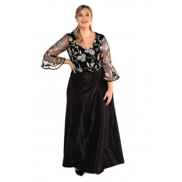Ulla Popken Abendkleid Damen, schwarz, Mode in großen Größen