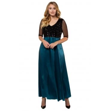 Ulla Popken  Abendkleid Damen 58, petrolblau, Polyester, Mode in großen Größen