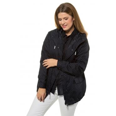 Ulla Popken Allwetterjacke Damen, schwarz, Polyester, Mode in großen Größen