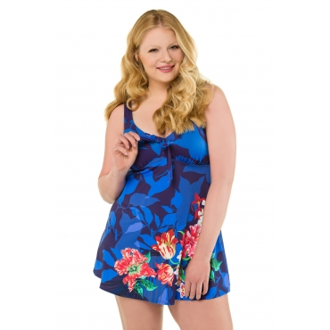 Ulla Popken  Badekleid Damen Größe 48, multicolor, Mode in großen Größen