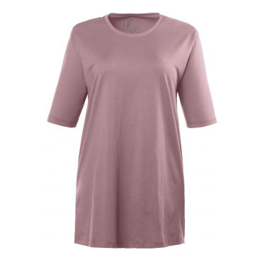Ulla Popken  Basic-T-Shirt Damen 50/52, malve, Baumwolle, Mode in großen Größen