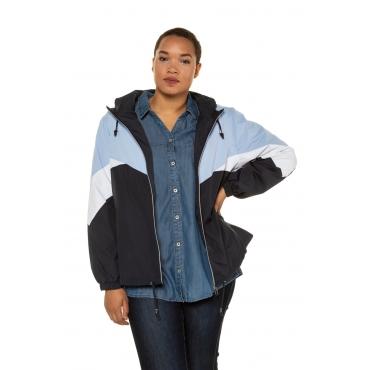 Ulla Popken  Blouson-Jacke Damen 58/60, multicolor, Polyester, Mode in großen Größen