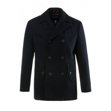 JP1880 Herren  Cabanjacke, hochwertige Woll-Qualität, Reverskragen, navy, Gr. XXL, Mode in großen Größen