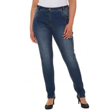 Ulla Popken  Curvy-Jeans Damen Größe 56, blue denim, Mode in großen Größen