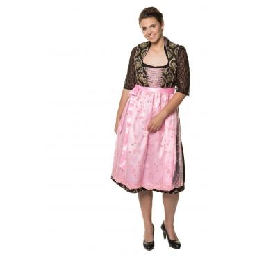 Ulla Popken Dirndl Damen, schwarz-rosé, Polyester, Mode in großen Größen