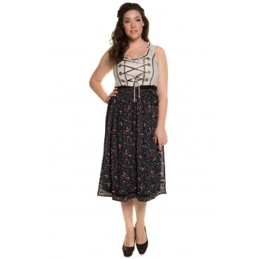 Ulla Popken  Dirndl mit Schürze Damen Größe 56, multicolor, Mode in großen Größen