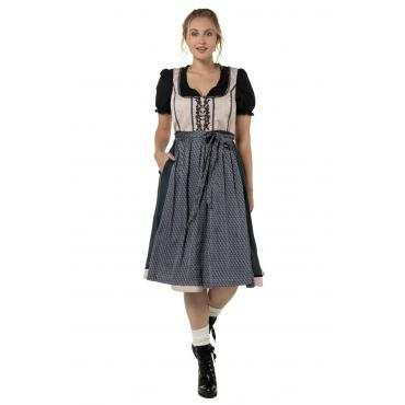 Ulla Popken  Fest-Dirndl Damen Größe 58, schwarz, Mode in großen Größen