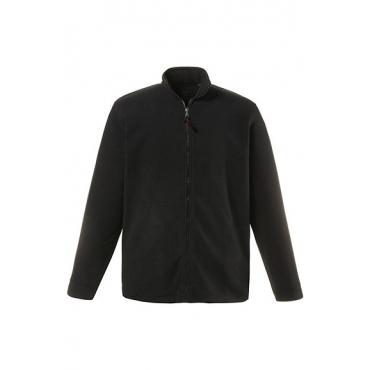 JP1880 Herren  Fleecejacke, Stehkragen, Zipp-Pockets, schwarz, Gr. XXL, Mode in großen Größen