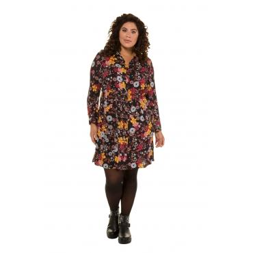 Ulla Popken  Hemdblusenkleid Damen Größe 58/60, multicolor, Mode in großen Größen