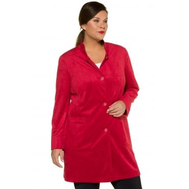Ulla Popken Hemdjacke Damen, rot, Polyester, Mode in großen Größen