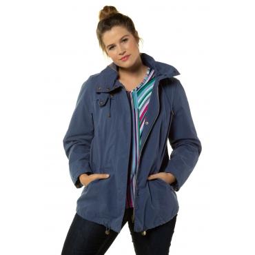 Ulla Popken Jacke Damen, blau, Baumwolle, Mode in großen Größen