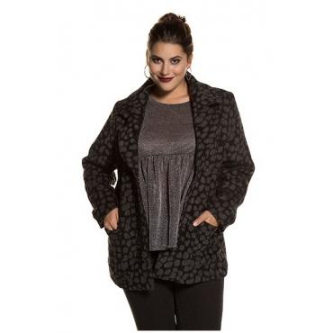 Studio Untold Damen  Jacke, Fleckenmuster, Eggshape, Wolloptik, mehrfarbig, Gr. 52, Mode in großen Größen