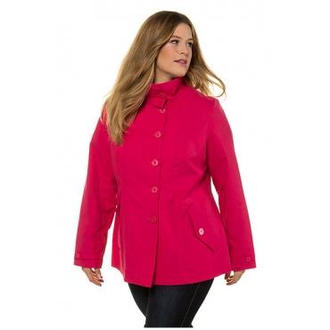 Ulla Popken Damen  Jacke, hoher Stehkragen, leichte Qualität, pink, Gr. 58/60, Mode in großen Größen