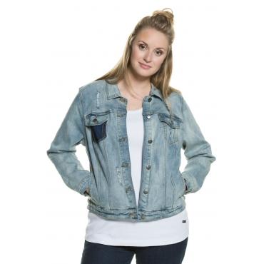 Ulla Popken  Jeansjacke Damen Größe 54, blue, Mode in großen Größen