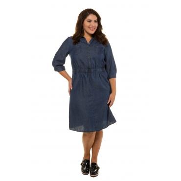 Ulla Popken  Jeanskleid Damen Größe 54, blue denim, Mode in großen Größen