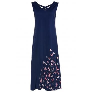 7cab841d86b92c Ulla Popken Jerseykleid Damen Größe 58/60, dunkelblau, Mode in großen Größen