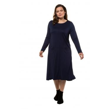 Ulla Popken Jerseykleid Damen, dunkelblau, Viskose, Mode in großen Größen
