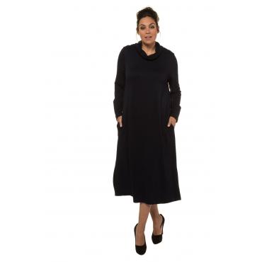 Ulla Popken  Jerseykleid Damen 58/60, mitternachtsblau, Viskose, Mode in großen Größen