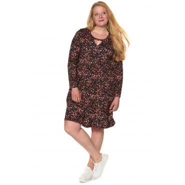 Ulla Popken  Jerseykleid Damen 54/56, multicolor, Viskose, Mode in großen Größen