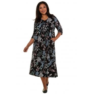 Ulla Popken Jerseykleid Damen, multicolor, Baumwolle, Mode in großen Größen