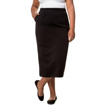 Ulla Popken Jerseyrock Damen, schwarz, Baumwolle, Mode in großen Größen
