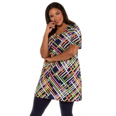 Ulla Popken Kleid Damen, multicolor, Baumwolle, Mode in großen Größen