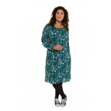 Ulla Popken  Kleid Damen Größe 58/60, petrolgrün, Viskose, Mode in großen Größen