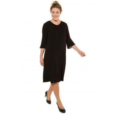 Ulla Popken  Kleid Damen Größe 56, schwarz, Mode in großen Größen