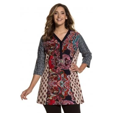 Ulla Popken  Longshirt Damen Größe 54/56, multicolor, Mode in großen Größen