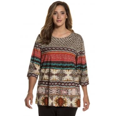 Ulla Popken Longshirt Damen, multicolor, Baumwolle, Mode in großen Größen