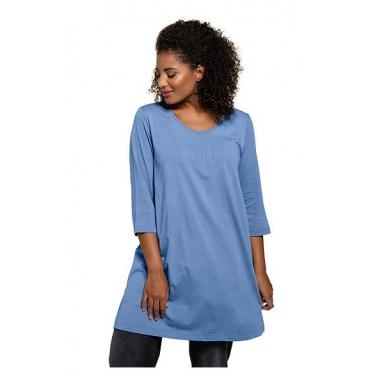 Ulla Popken Damen  Longshirt, petrolblau, Gr. 54/56, Mode in großen Größen