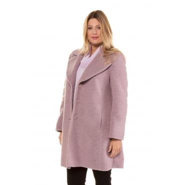 Ulla Popken  Mantel Damen 56, hyazinthe, Wolle, Mode in großen Größen