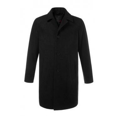 JP1880 Herren  Mantel, Reversform, hoher Wollanteil, schwarz, Gr. XXL, Mode in großen Größen