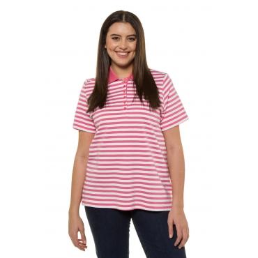 Ulla Popken  Poloshirt Damen 50/52, lachspink, Baumwolle, Mode in großen Größen