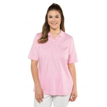 Ulla Popken  Poloshirt Damen 54/56, rosé, Baumwolle, Mode in großen Größen