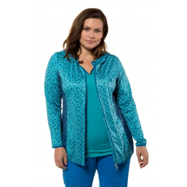 Ulla Popken  Powerstretch-Jacke Damen 58/60, türkis, Polyester, Mode in großen Größen