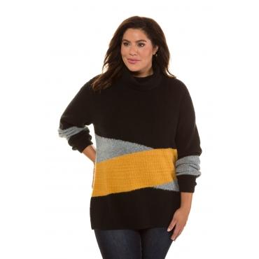 beste Sammlung 100% echt verschiedene Farben Ulla Popken Pullover Damen, senf-schwarz, Polyacryl, Mode in ...