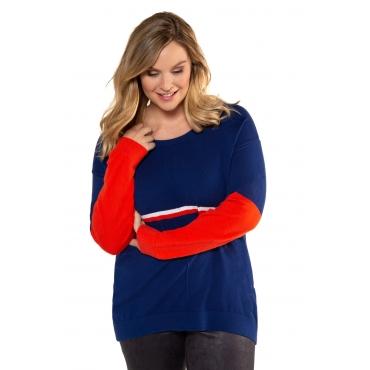 Ulla Popken  Pullover Damen Größe 58/60, mitternachtsblau, Mode in großen Größen