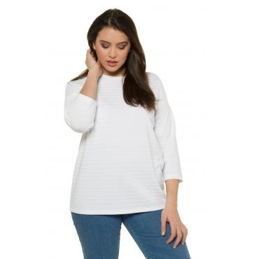 Ulla Popken  Pullover Damen 50/52, weiß, Polyester, Mode in großen Größen