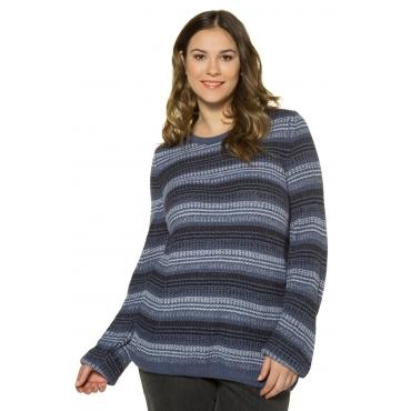 Ulla Popken  Pullover Damen Größe 54/56, blauviolett, Mode in großen Größen