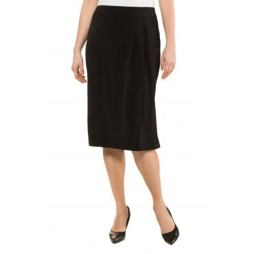 Ulla Popken Rock Damen, schwarz, Polyester, Mode in großen Größen