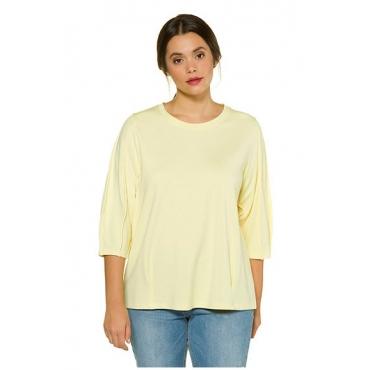 Studio Untold Damen  Shirt, 3/4-Ballonärmel, Studio Untold, hellgelb, Gr. 50/52, Mode in großen Größen
