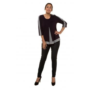 Ulla Popken  Shirt Damen Größe 58/60, brombeere, Viskose, Mode in großen Größen