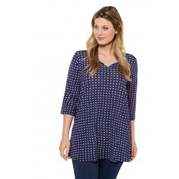 Ulla Popken  Shirt Damen Größe 58/60, dunkelblau, Mode in großen Größen